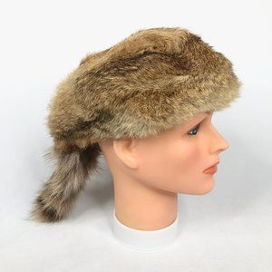 Vintage Brown Raccoon Skin Hat